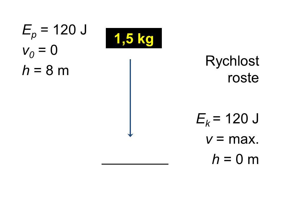 Pohybová energie (kinetická energie) fyzikální veličina značka …E k (energy) jednotka …1 J(joule) Kinetická energie se rovná práci spotřebované na uvedení tělesa do pohybu nebo na zastavení tělesa.