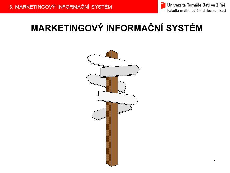 3. MARKETINGOVÝ INFORMAČNÍ SYSTÉM 1 MARKETINGOVÝ INFORMAČNÍ SYSTÉM