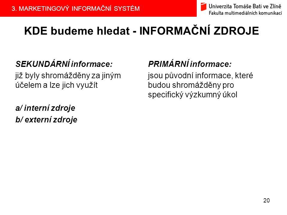 3.MARKETINGOVÝ INFORMAČNÍ SYSTÉM 19 2.