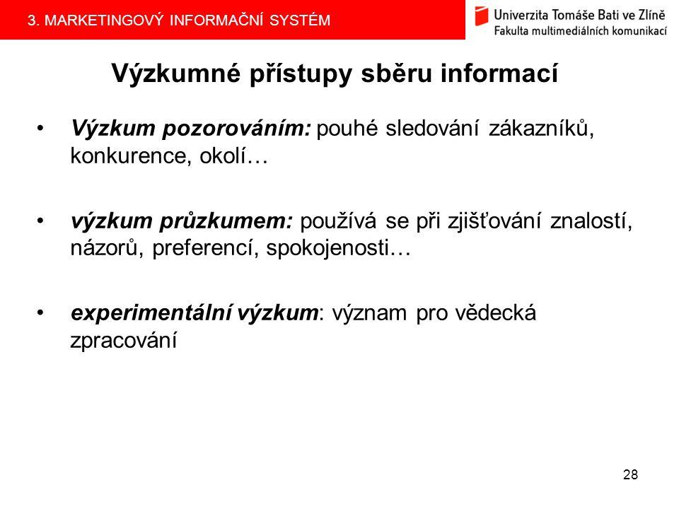 3. MARKETINGOVÝ INFORMAČNÍ SYSTÉM 27 Zjišťování primárních informací