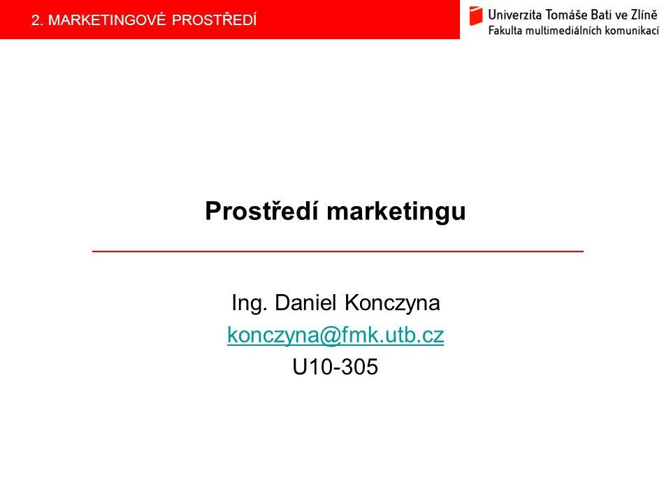 2. MARKETINGOVÉ PROSTŘEDÍ Prostředí marketingu Ing. Daniel Konczyna konczyna@fmk.utb.cz U10-305