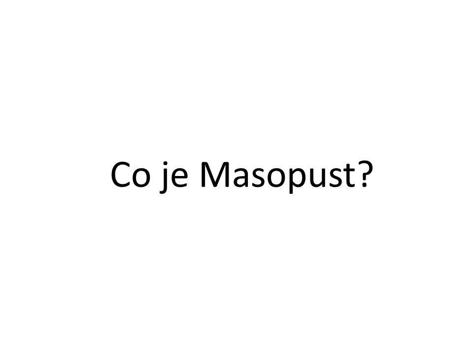 Co je Masopust?