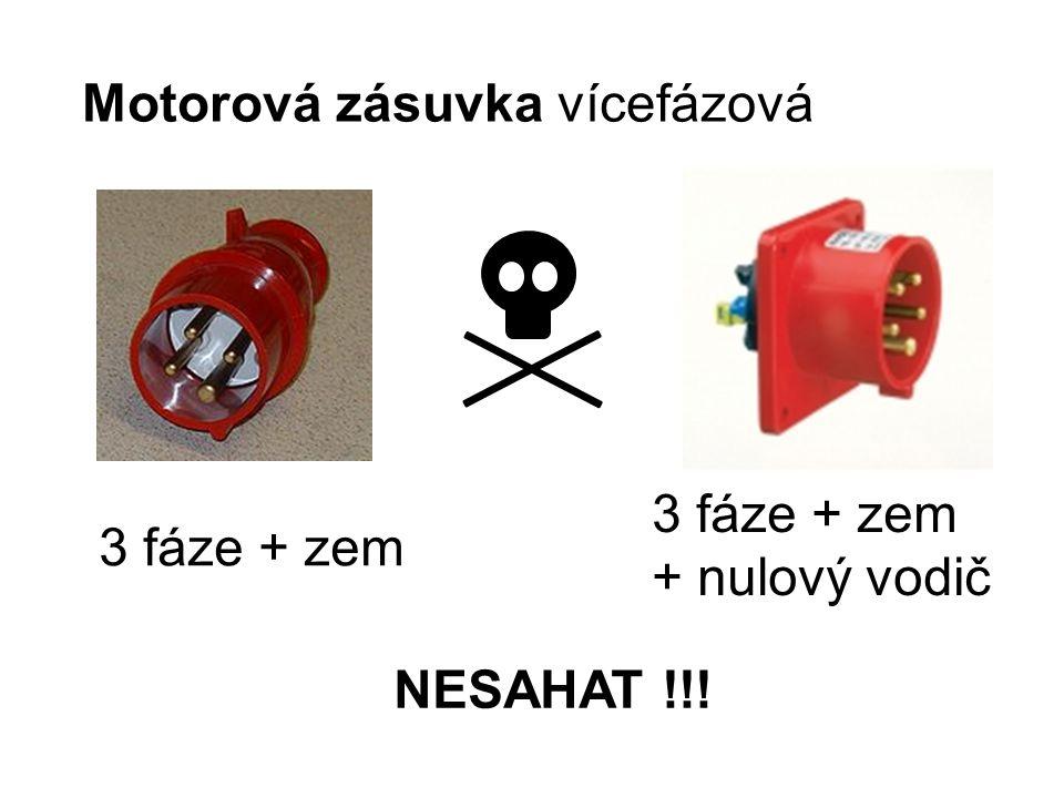 Motorová zásuvka vícefázová 3 fáze + zem 3 fáze + zem + nulový vodič NESAHAT !!!