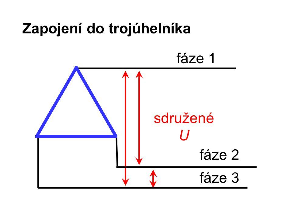 Zapojení do trojúhelníka fáze 1 fáze 2 fáze 3 sdružené U