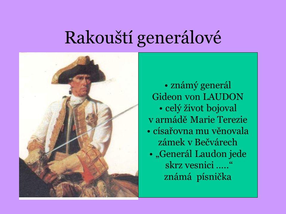 Rakouští generálové velitel rakouských vojsk maršál Leopold Daun vyznamenán Marií Terezií Vojenským řádem známý generál Gideon von LAUDON celý život b