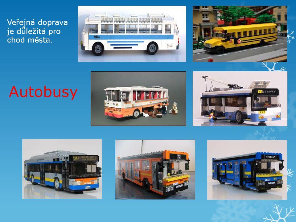 Autobusy Veřejná doprava je důležitá pro chod města.