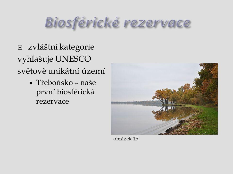  zvláštní kategorie vyhlašuje UNESCO světově unikátní území  Třeboňsko – naše první biosférická rezervace obrázek 15
