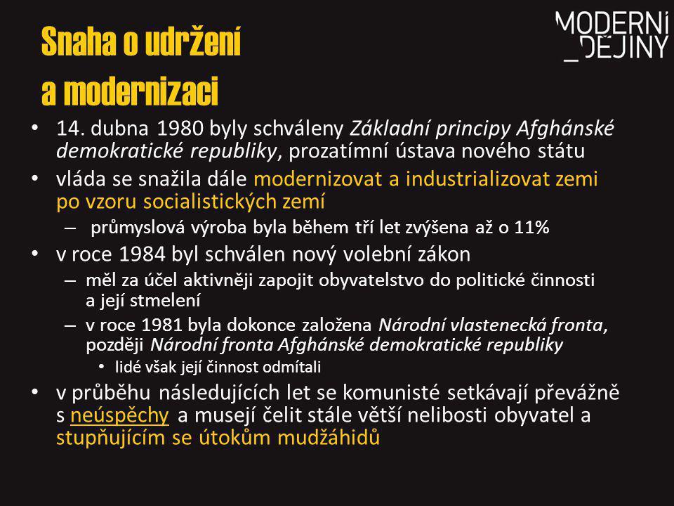 Snaha o udržení a modernizaci 14.
