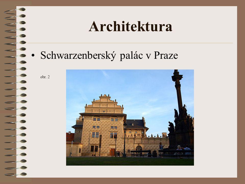 Architektura Schwarzenberský palác v Praze obr. 2