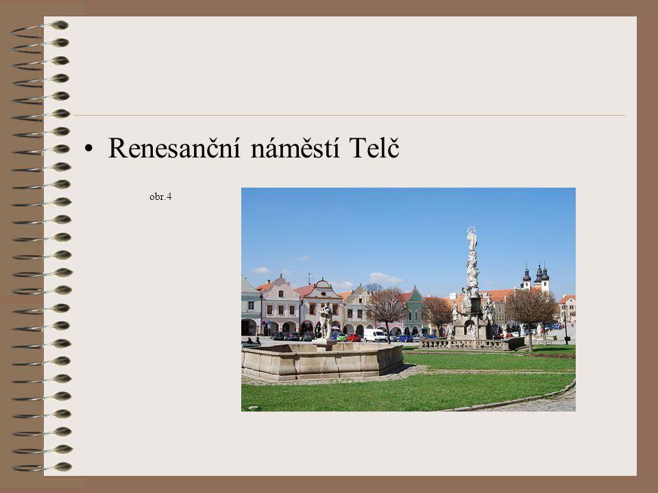 Renesanční náměstí Telč obr.4