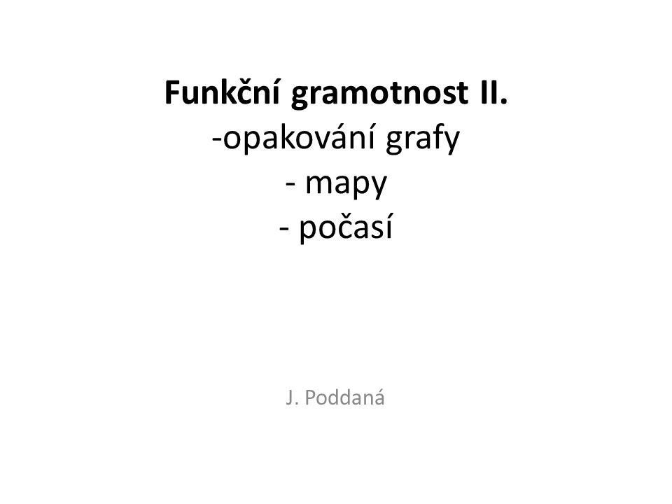 Funkční gramotnost II. -opakování grafy - mapy - počasí J. Poddaná
