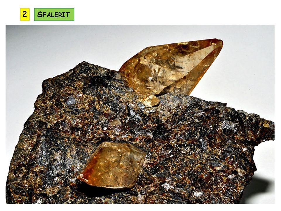 jiným názvem též cinabarit využití jako barvivo – rumělková červeň (jedovatá !) při zahřívání nad 580° C dochází k tepelnému rozkladu minerálu a uvolňuje se rtuť využití: ruda rtuti, lékařství, měřící technika, chemie, elektrotechnika… výskyt: Almaden ve Španělsku, Monte Amiata v Itálii, Idrie ve Slovinsku R UMĚLKA (H G S) KRYSTALOVÁ SOUSTAVA: klencová ŠTĚPNOST: dokonalá TVRDOST: 2 až 2,5 LOM: tříšťnatý HUSTOTA: 8,1 VRYP: červený BARVA: červená LESK: diamantový