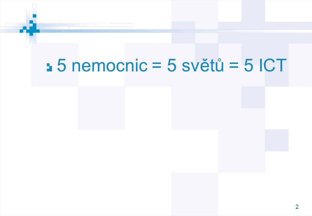 2 5 nemocnic = 5 světů = 5 ICT