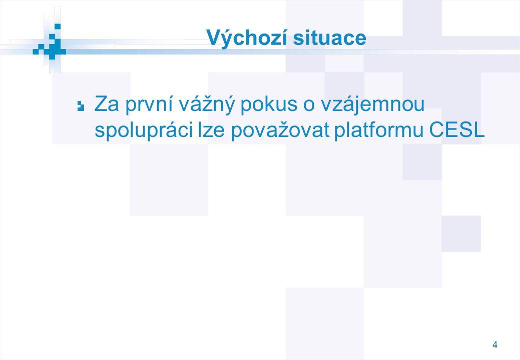 4 Výchozí situace Za první vážný pokus o vzájemnou spolupráci lze považovat platformu CESL