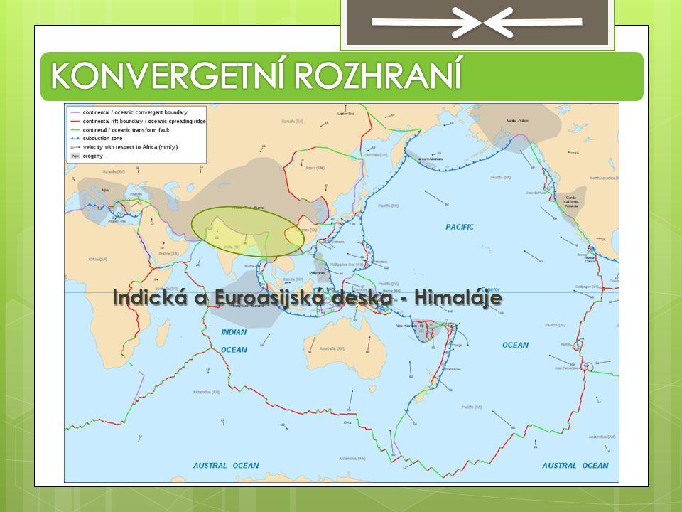 Indická a Euroasijská deska - Himaláje