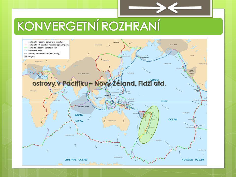 ostrovy v Pacifiku – Nový Zéland, Fidži atd.