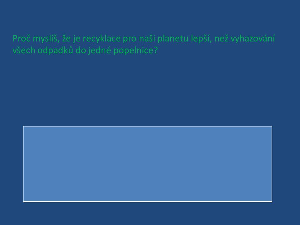 Jaké materiály se mohou recyklovat?