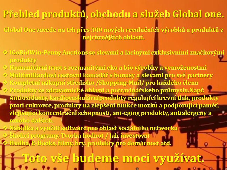 Přehled produktů, obchodu a služeb Global one.