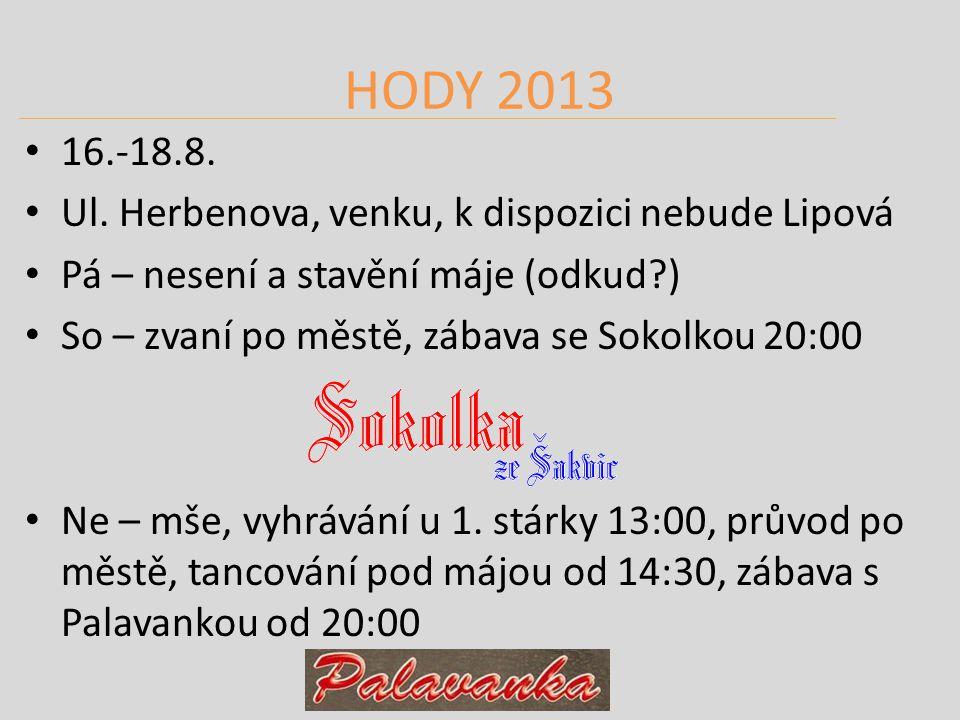 HODY 2013 16.-18.8. Ul.