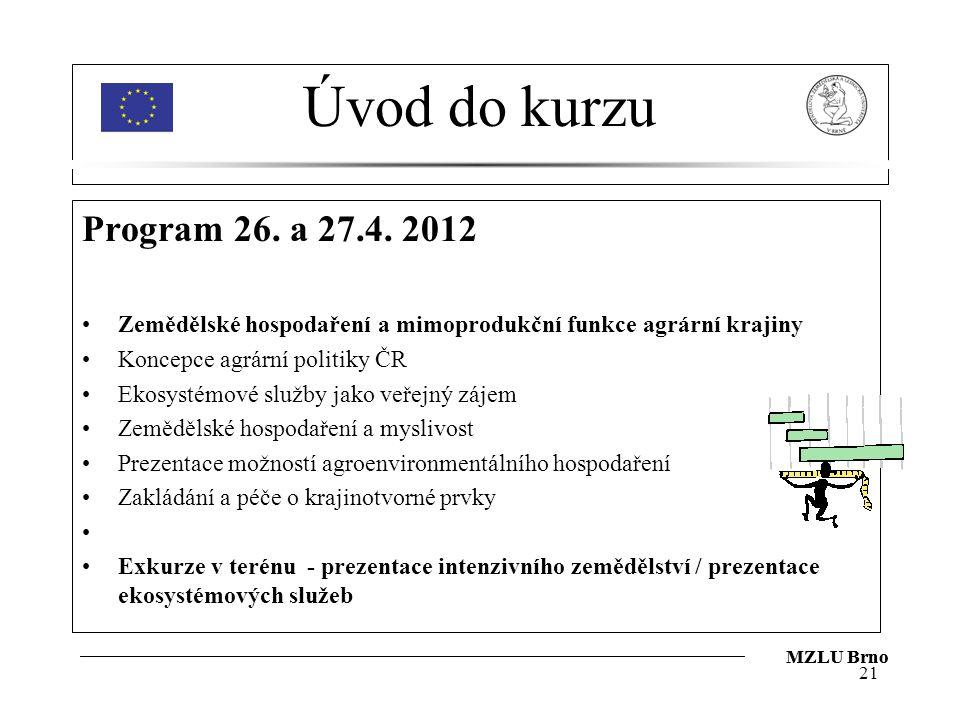 Úvod do kurzu Program 26.a 27.4.
