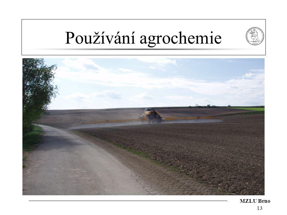 MZLU Brno Používání agrochemie 13