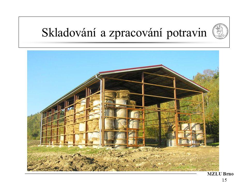 MZLU Brno Skladování a zpracování potravin 15