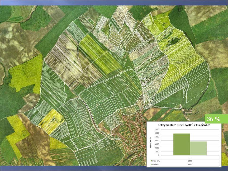 Návrhovépráce Návrhové práce Návrh rozmístění jednotlivých parcel 36 %