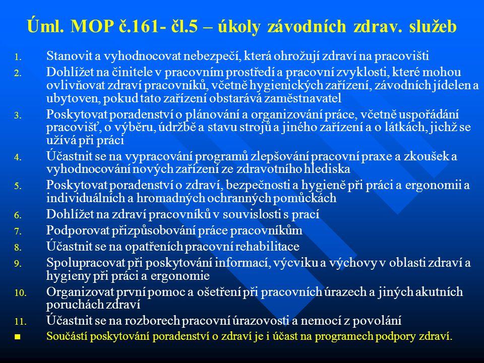 Úml.MOP č.161- čl.5 – úkoly závodních zdrav. služeb 1.