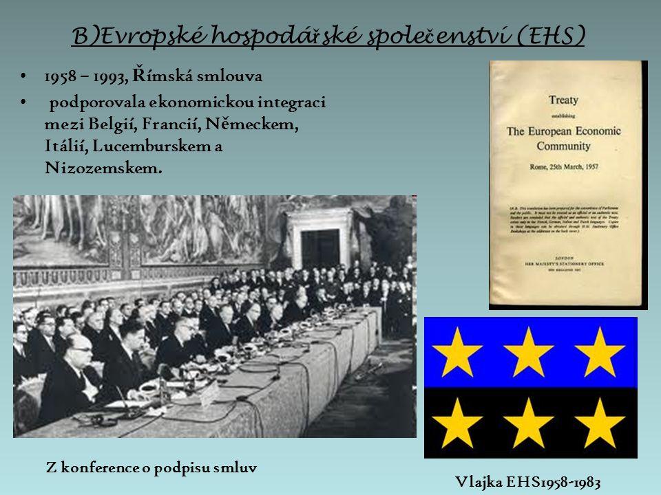 C)Evropské spole č enství pro atomovou energii (Euratom) založeno 25.