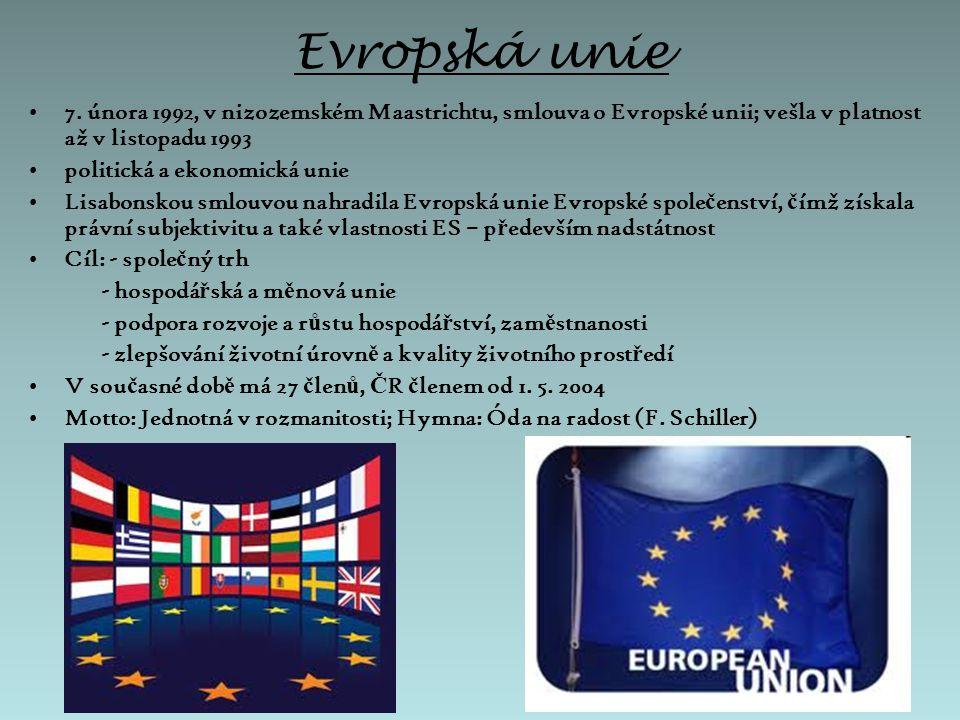 Členské státy, kandidátské země, další země v Evropě