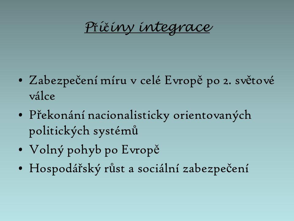 Výbor pro evropskou hospodá ř skou spolupráci (CEEC) Č ervenec 1947 Organizace na ekonomickou a hospodá ř skou integraci v západní Evrop ě (proti SSSR).