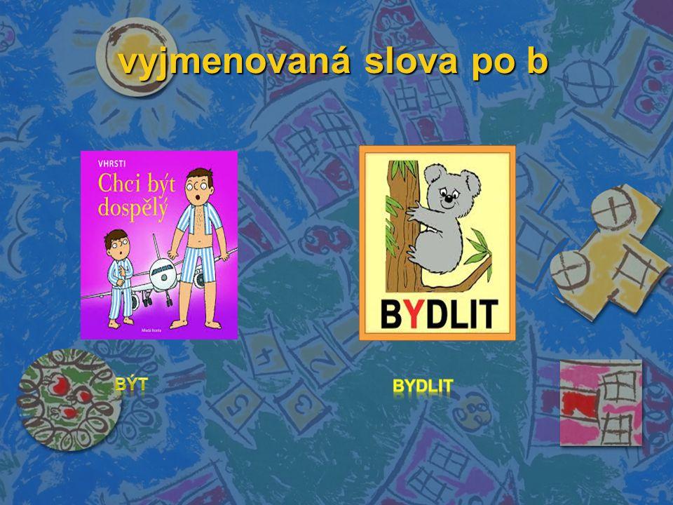 vyjmenovaná slova po b vyjmenovaná slova po b
