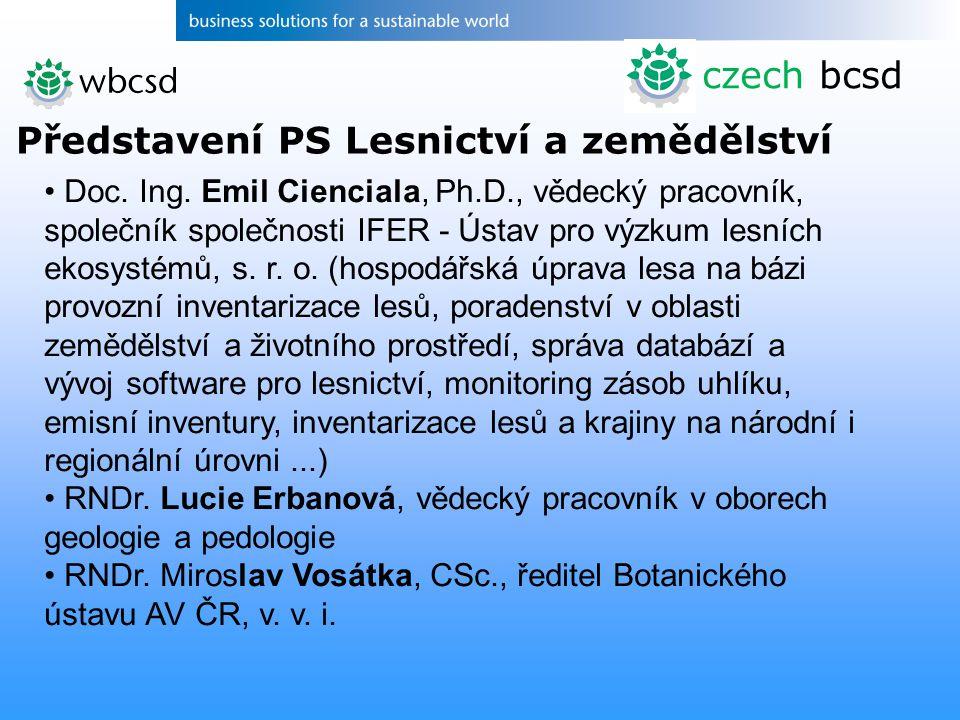 Představení PS Lesnictví a zemědělství czech bcsd Doc.