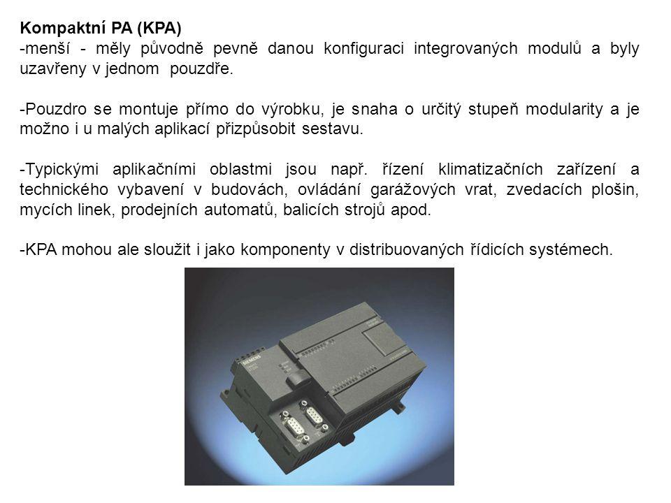 Kompaktní PA (KPA) -menší - měly původně pevně danou konfiguraci integrovaných modulů a byly uzavřeny v jednom pouzdře. -Pouzdro se montuje přímo do v