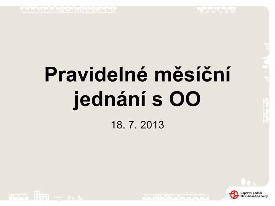 Pravidelné měsíční jednání s OO 18. 7. 2013
