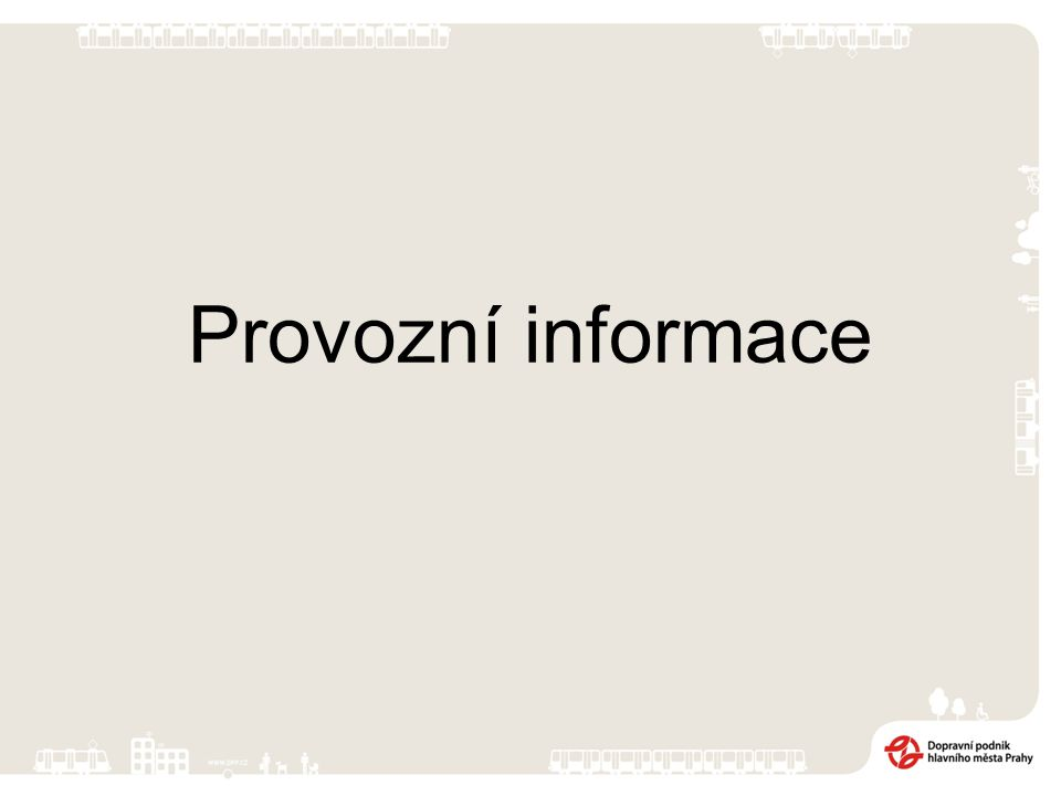 Provozní informace