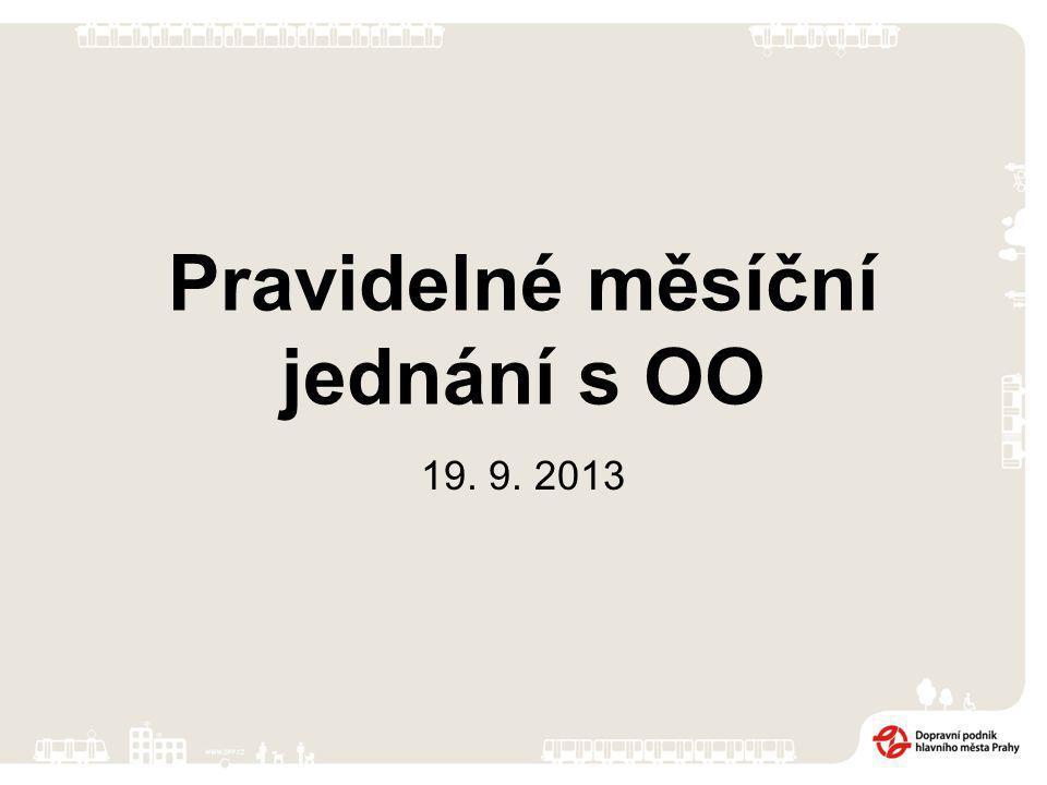 Pravidelné měsíční jednání s OO 19. 9. 2013