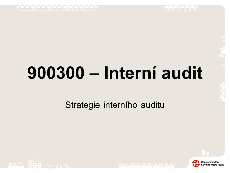 900300 – Interní audit Strategie interního auditu