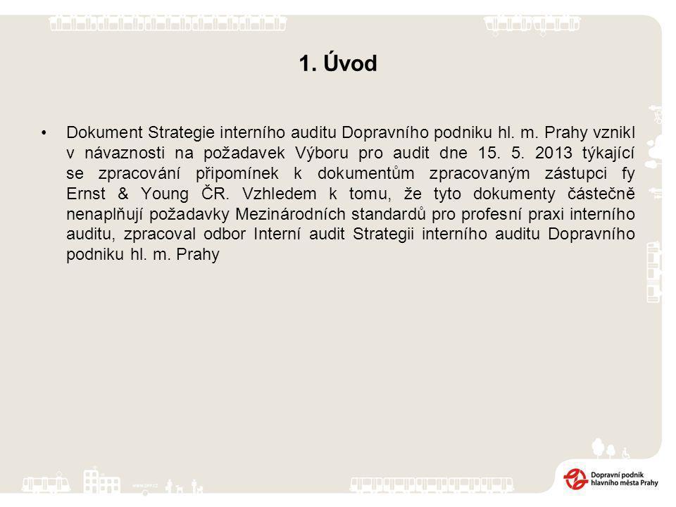1. Úvod Dokument Strategie interního auditu Dopravního podniku hl.