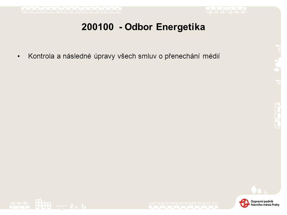 200100 - Odbor Energetika Kontrola a následné úpravy všech smluv o přenechání médií
