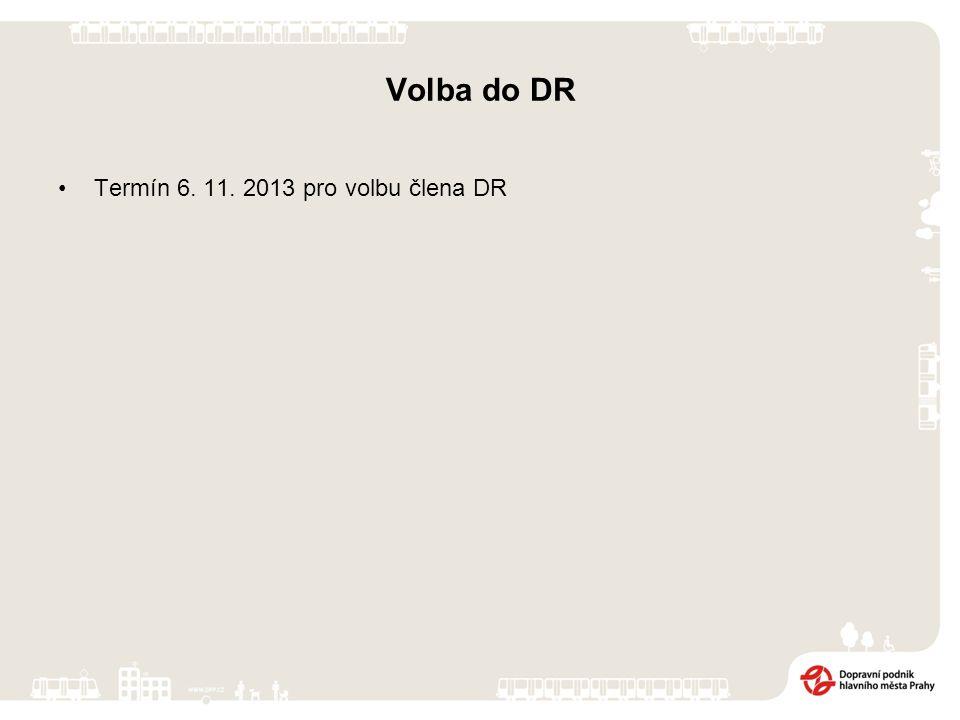 Volba do DR Termín 6. 11. 2013 pro volbu člena DR