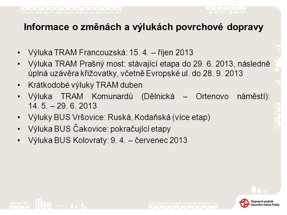 Přehled tržeb PID za 1-2 2012 a 2013 Tržby PID obsahují: časové jízdenky celkem (vč.