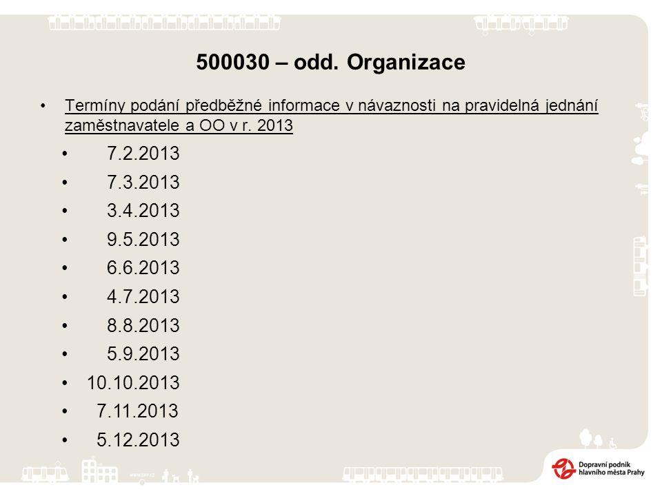 Termíny podání předběžné informace v návaznosti na pravidelná jednání zaměstnavatele a OO v r. 2013 7.2.2013 7.3.2013 3.4.2013 9.5.2013 6.6.2013 4.7.2