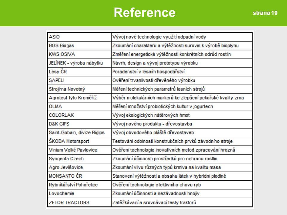 strana 19 Reference