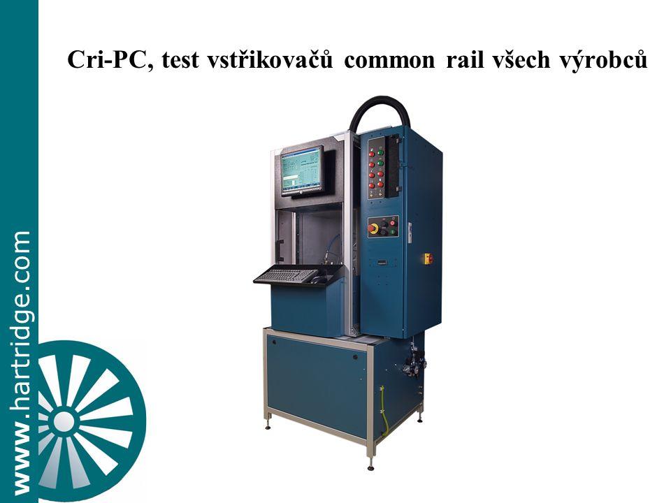www.hartridge.com Cri-PC, test vstřikovačů common rail všech výrobců