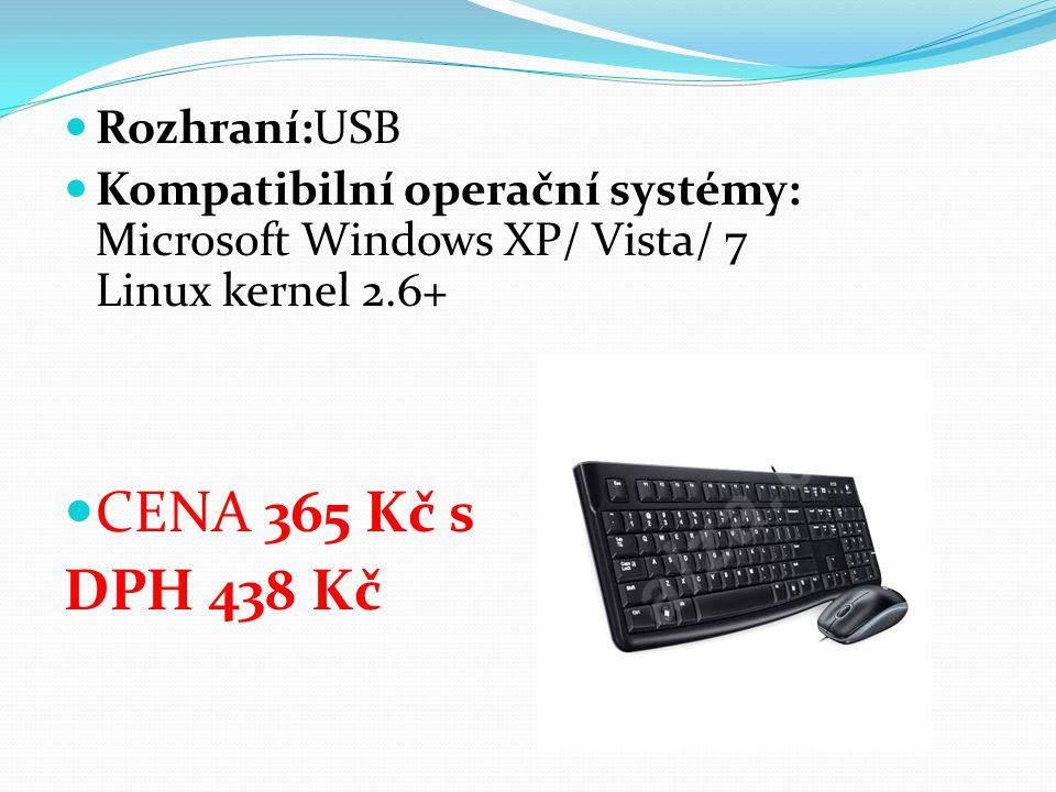 Rozhraní:USB Kompatibilní operační systémy: Microsoft Windows XP/ Vista/ 7 Linux kernel 2.6+ CENA 365 Kč s DPH 438 Kč