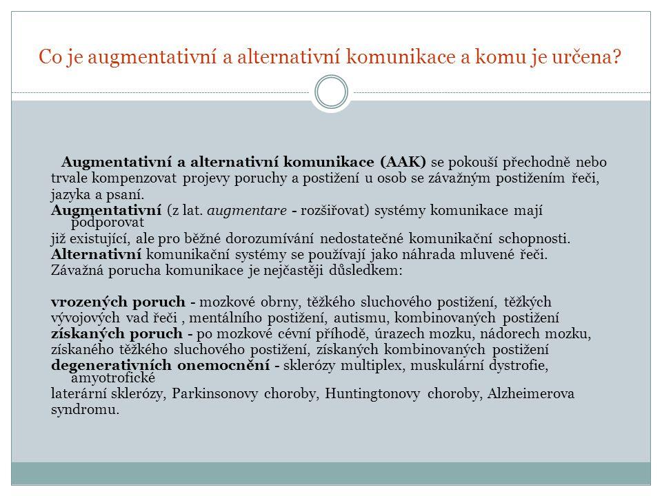 Metody a postupy AAK Zásadou je vždy to, aby způsob dorozumívání byl co nejpřirozenější, jak je to jen v dané situaci možné.