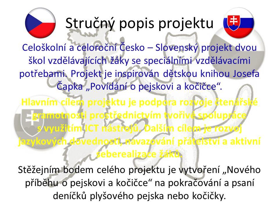 Stručný popis projektu Celoškolní a celoroční Česko – Slovenský projekt dvou škol vzdělávajících žáky se speciálními vzdělávacími potřebami. Projekt j