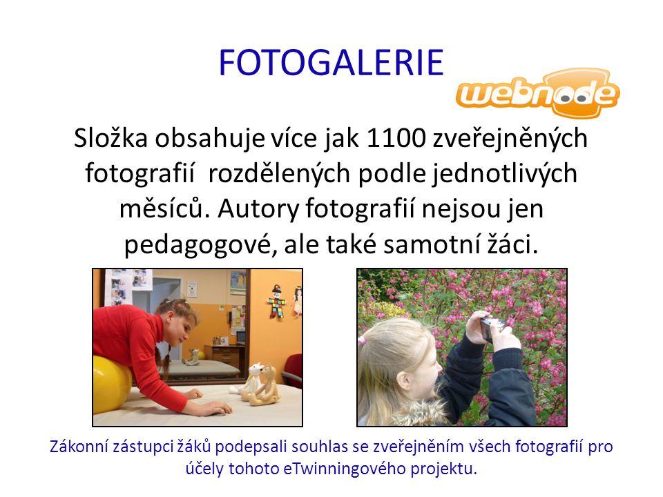 FOTOGALERIE Složka obsahuje více jak 1100 zveřejněných fotografií rozdělených podle jednotlivých měsíců. Autory fotografií nejsou jen pedagogové, ale