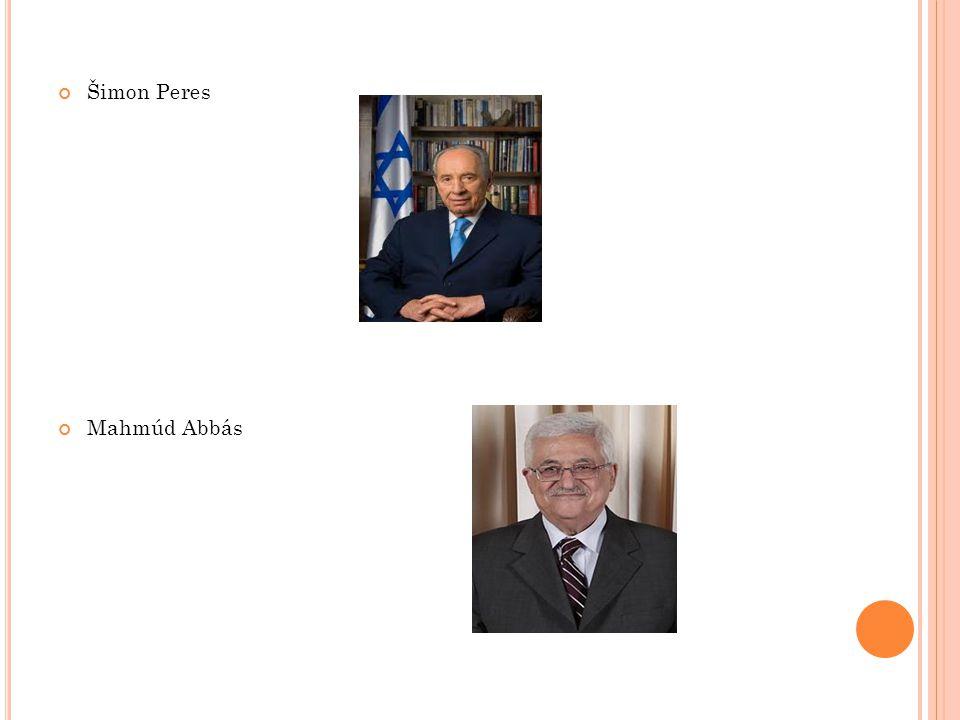 Šimon Peres Mahmúd Abbás